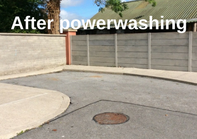 after powerwashing services